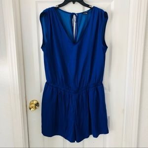 NWOT loft royal blue romper size medium